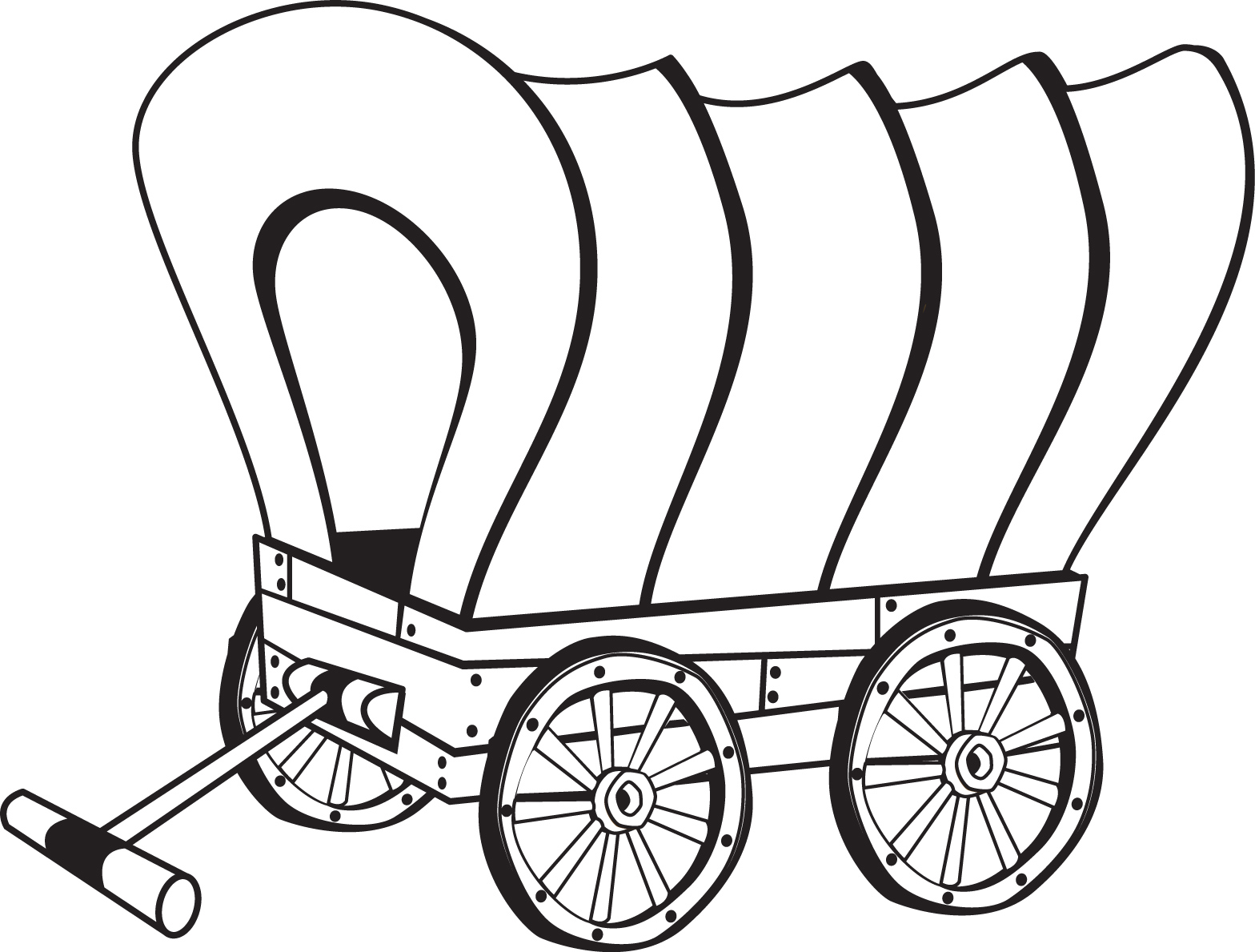 Download or print this amazing coloring page: Covered Wagon Coloring ... png library