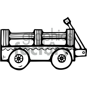 black and white wagon art clipart. Royalty-free clipart # 405459 png royalty free