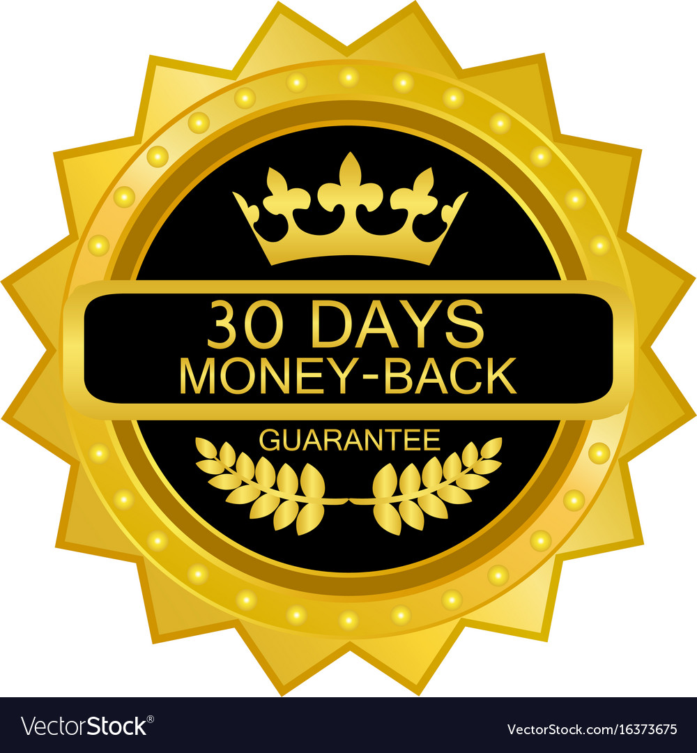 Thirty days money back guarantee graphic black and white stock