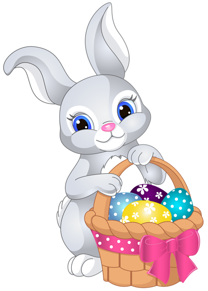 30 easter egg clipart. Bunny with basket png