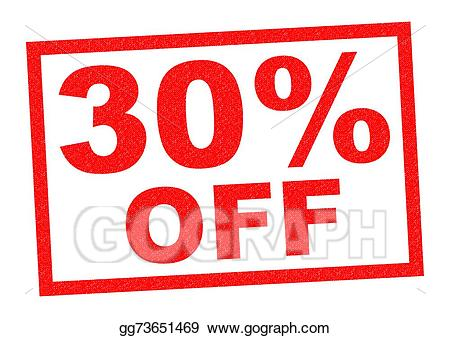 30 off clipart banner free library Stock Illustration - 30% off. Clipart Drawing gg73651469 - GoGraph banner free library