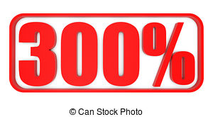 Three hundred percent off discount 300 Clipart and Stock ... jpg royalty free stock