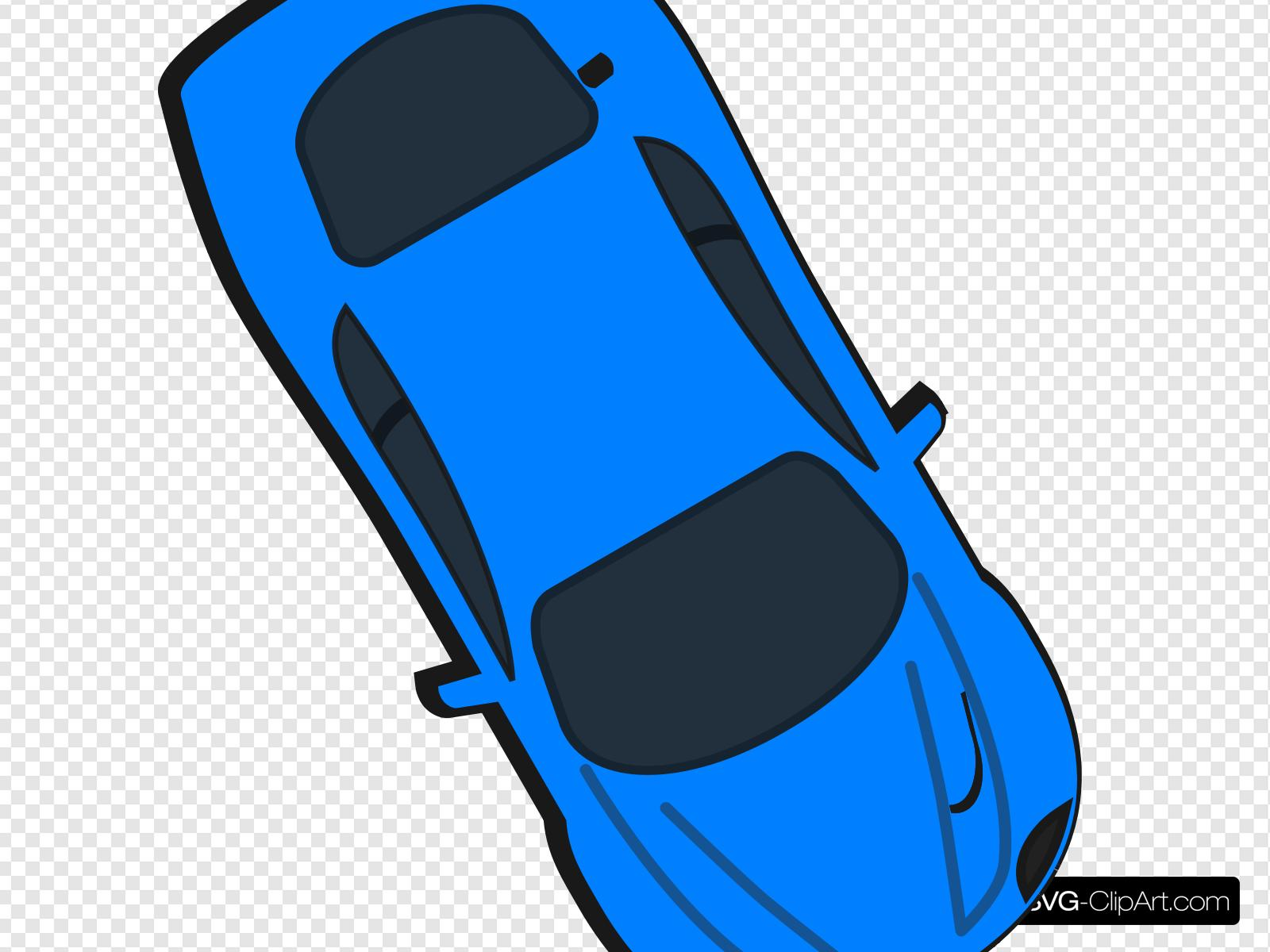 Blue Car - Top View - 300 Clip art, Icon and SVG - SVG Clipart vector library stock