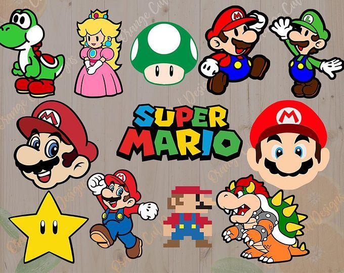 300 dpi bowser clipart clip free download Mario Svg, Videogame Mario Bros Cut files: Svg, Dxf, Eps, Yoshi svg ... clip free download