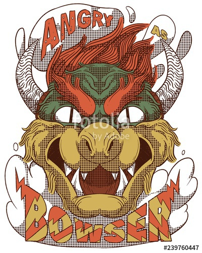 300 dpi bowser clipart banner royalty free stock Bowser head, \