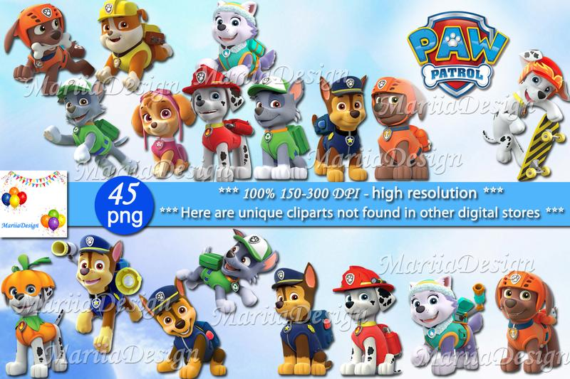 300 dpi clipart mario image transparent Paw Patrol Clipart, 45 PNG - 300 Dpi, Paw Patrol png, Paw Patrol clip art,  Paw Patrol Instant download - ONLY FILES image transparent