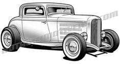 30s ford v8 clipart clip black and white stock 30 Best 32 ford images in 2018   Automotive art, 32 ford, Car drawings clip black and white stock