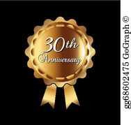 30th anniversary clipart free svg library stock 30Th Anniversary Clip Art - Royalty Free - GoGraph svg library stock