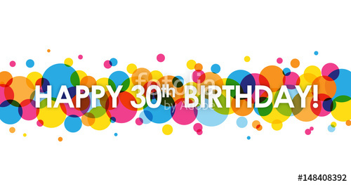 30th birthday banner clipart clipart library HAPPY 30th BIRTHDAY\