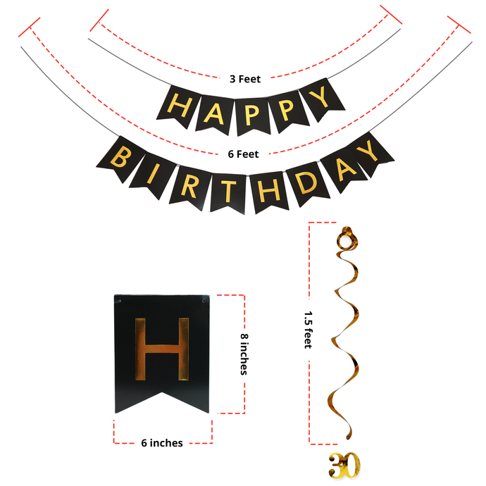 30th birthday banner clipart banner free download 30th BIRTHDAY PARTY DECORATIONS KIT for Him Her BIRTHDAY BANNER + ... banner free download