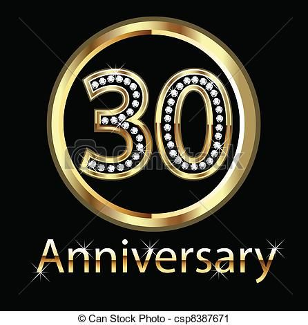 30th Wedding Anniversary Clip Art | , stock clip art icon, stock ... graphic freeuse