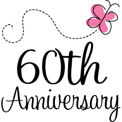 60th anniversary image | 60th Wedding Anniversary Clip Art ... svg black and white library