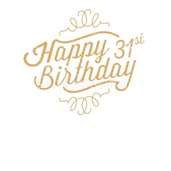 31st birthday clipart clip free stock Happy 31st Birthday Buttons small 1\'\' (5-pack) - white clip free stock