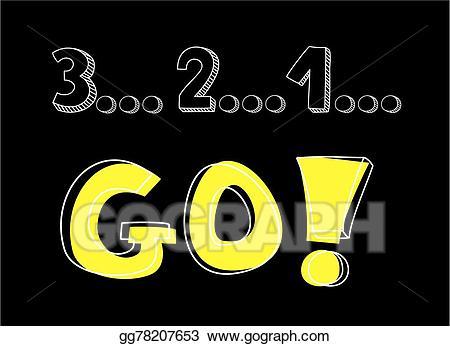 3-2-1 clipart royalty free stock EPS Illustration - Countdown: 3 2 1 go vector. Vector Clipart ... royalty free stock