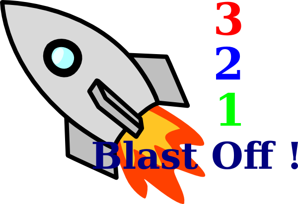 3-2-1 clipart graphic black and white stock 3-2-1 Blast Off Clip Art at Clker.com - vector clip art online ... graphic black and white stock