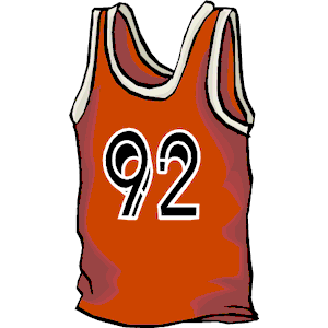 33 on jersey clipart