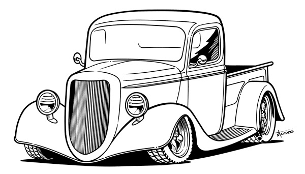 34 ford clipart clip royalty free stock Line Drawing of old cars   Some Sharpie® line art... - Graphic ... clip royalty free stock