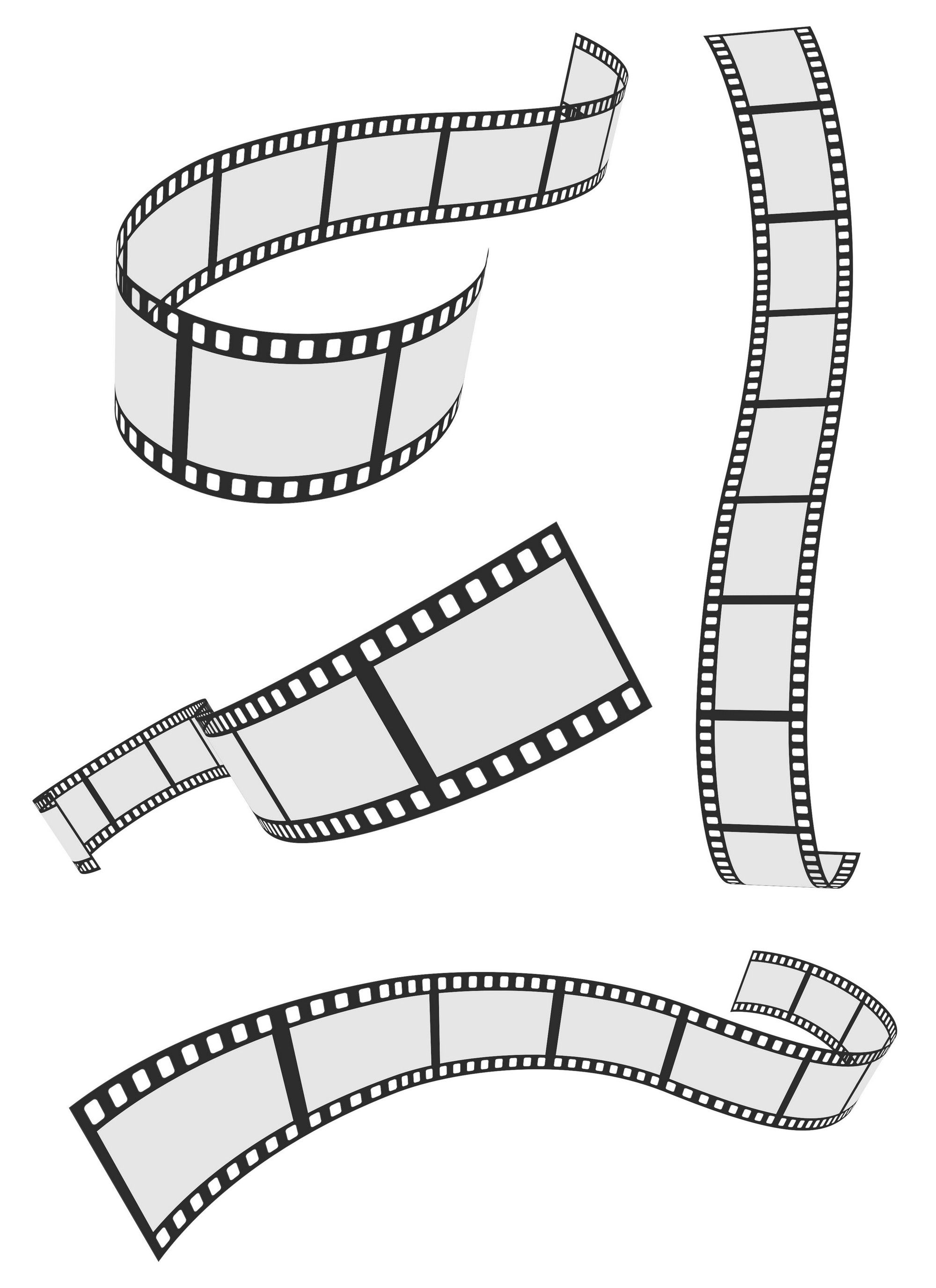 35mm film letters clipart