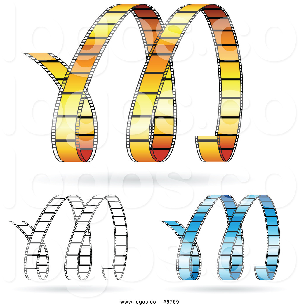 35mm film letters clipart picture black and white library Royalty Free Clip Art Vector Logos of Movie Film Strips Forming M by ... picture black and white library