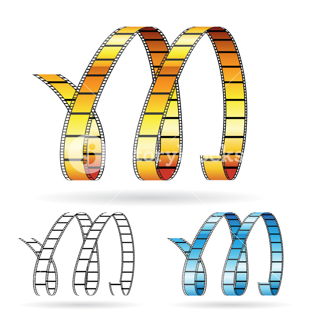35mm film letters clipart jpg freeuse Vector illustration of film reels forming letter M to symbolize ... jpg freeuse