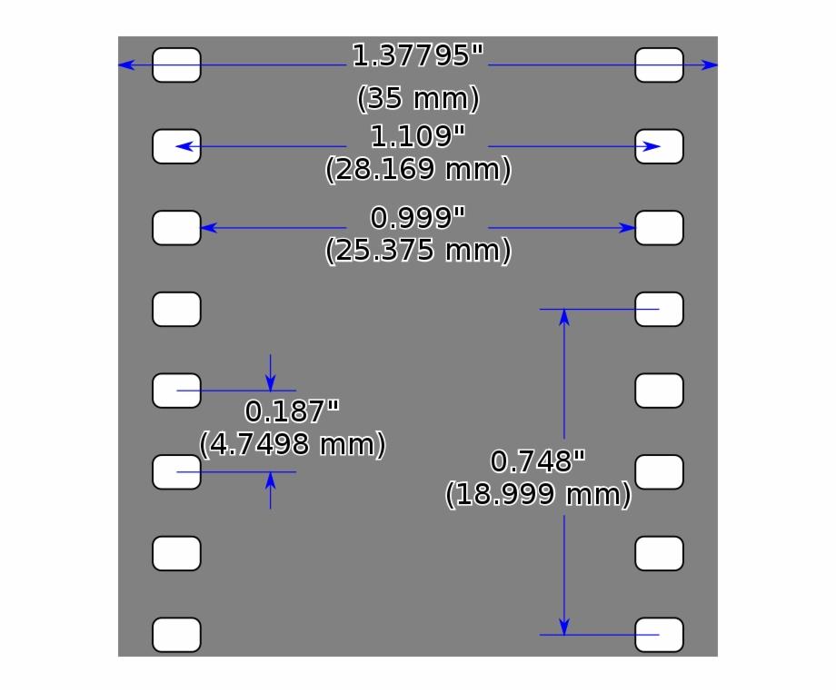 35mm film letters clipart svg transparent 35mm Film Dimensions, As Outlined In A 1965 Smpte Paper - 35mm Film ... svg transparent