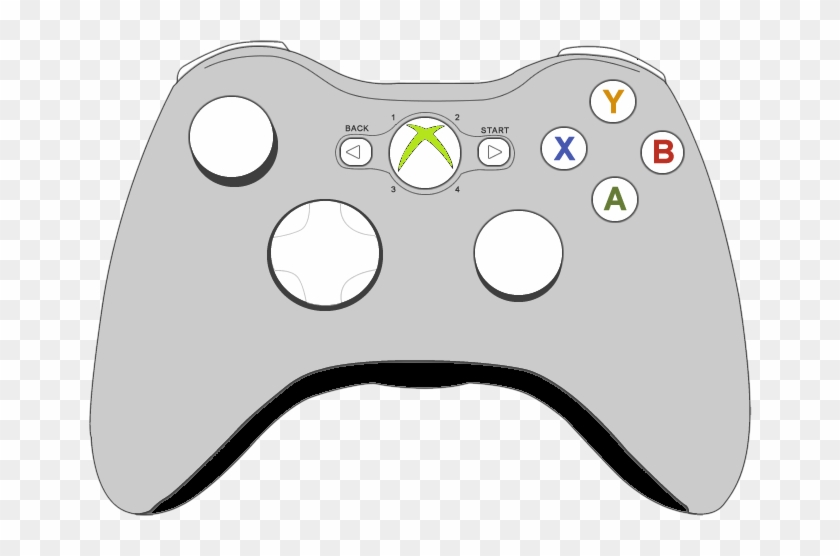 Xbox Controller Png Hd - Xbox 360 Controller Clipart, Transparent ... banner black and white download