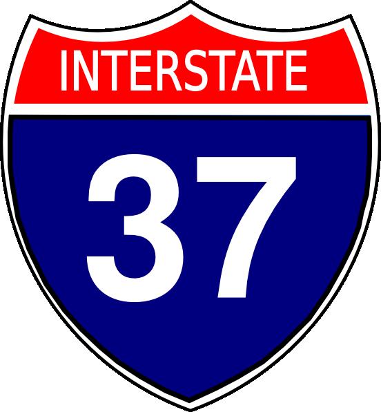 I-37 Sign Clip Art at Clker.com - vector clip art online, royalty ... transparent stock