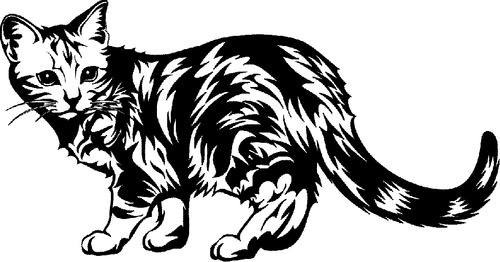 Artsy cat clipart image library stock 73+ Cat Black And White Clipart | ClipartLook image library stock