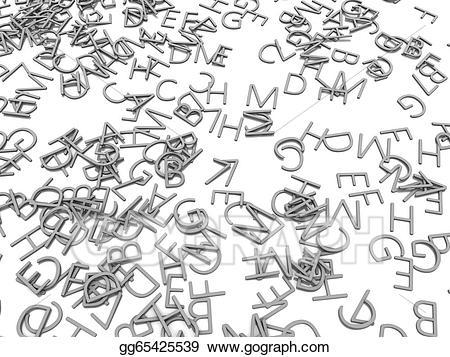 3d alphabet letters clipart picture royalty free library Stock Illustration - 3d alphabet letters. Clipart Drawing gg65425539 ... picture royalty free library