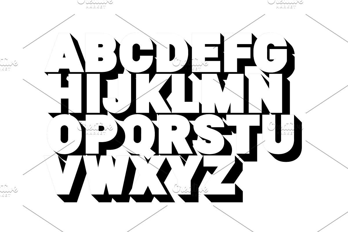 3d alphabet letters clipart banner transparent 3d alphabet. Poster style, sans banner transparent