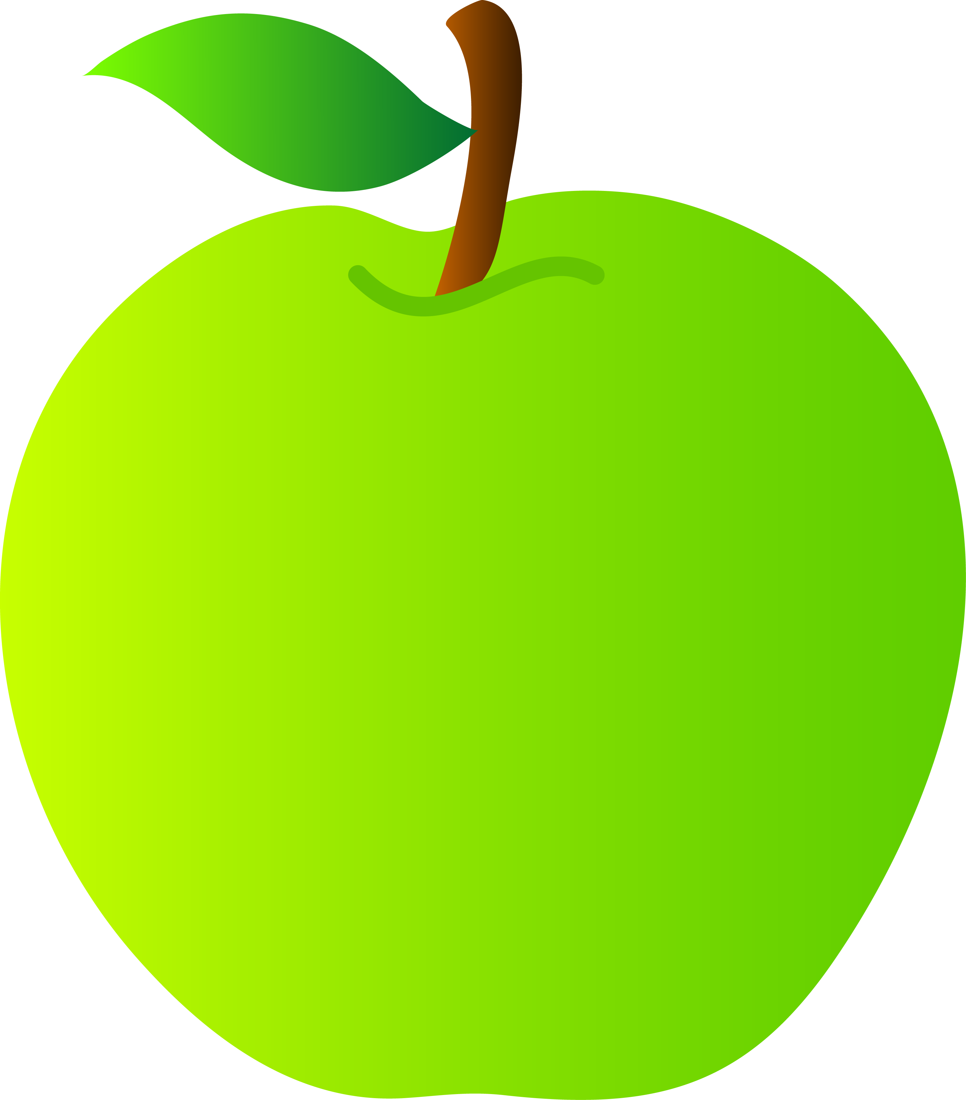 Banana and apple together clipart image free Green Apple Drawing at GetDrawings.com | Free for personal use Green ... image free