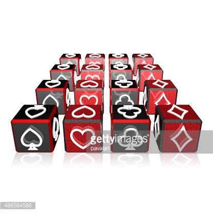 3-d array clipart clip free download 3d Color Cubes Array With Playing Card Suits premium clipart ... clip free download