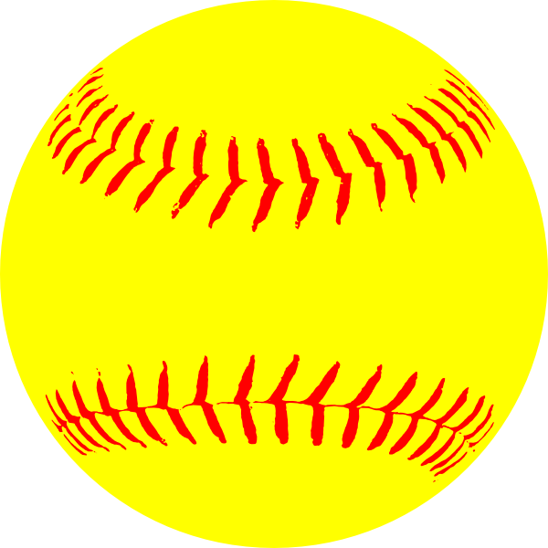 Baseball clipart hope you had a ball image freeuse download Yellow paintings | Yellow Softball clip art - vector clip art online ... image freeuse download