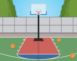 A basketball court clipart