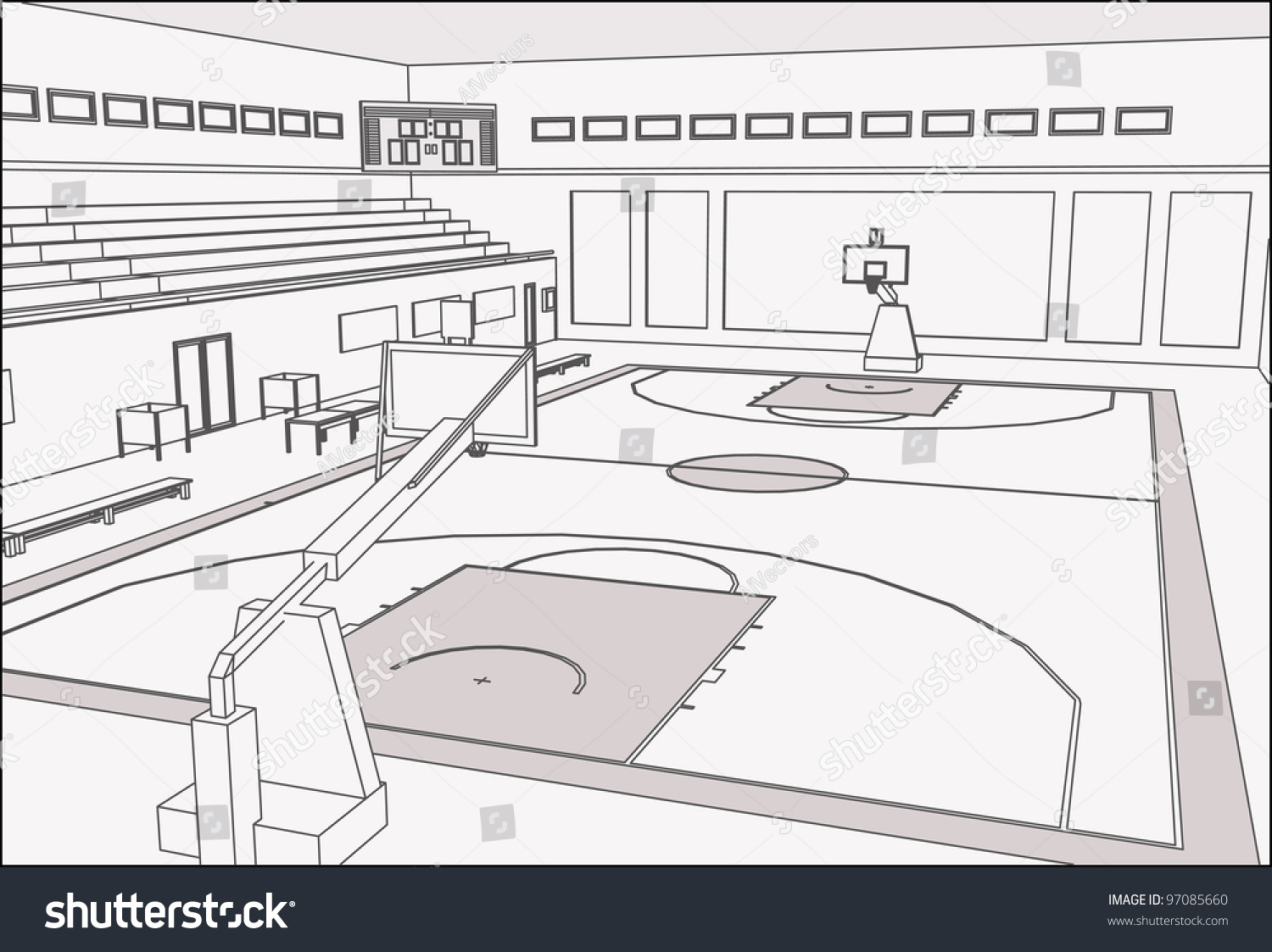 3d basketball court clipart png transparent download Basketball Court Sketch at PaintingValley.com | Explore collection ... png transparent download