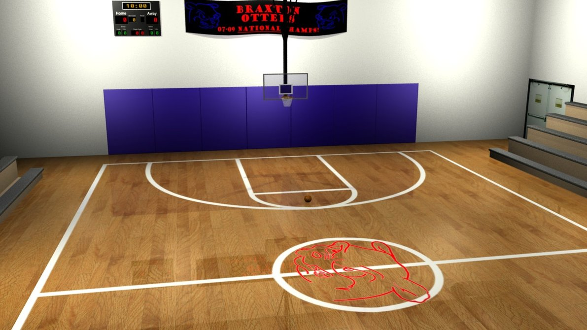3d basketball court clipart clip art black and white Free Basketball Court Cartoon, Download Free Clip Art, Free Clip Art ... clip art black and white