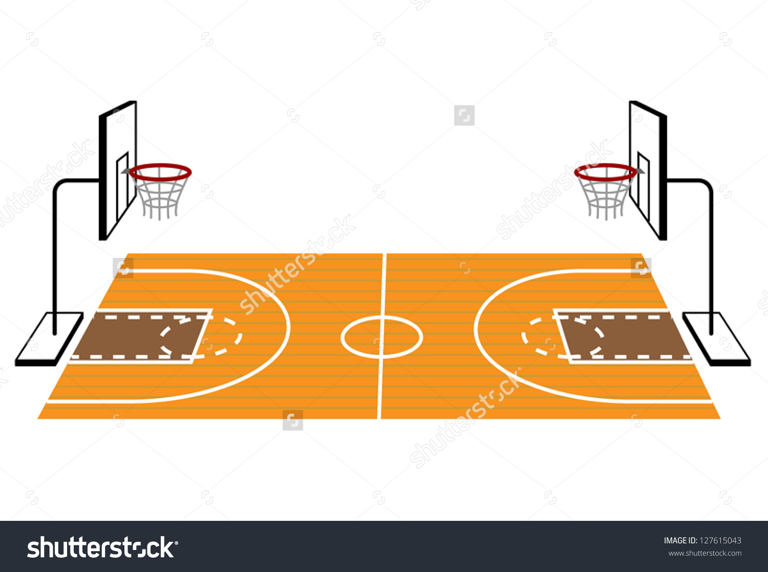 3d basketball court clipart vector black and white library Basketball Court Clipart Group with 51+ items vector black and white library