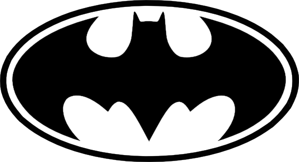 Batman logo clipart black and white png freeuse Free Batman Black And White Symbol, Download Free Clip Art, Free ... png freeuse