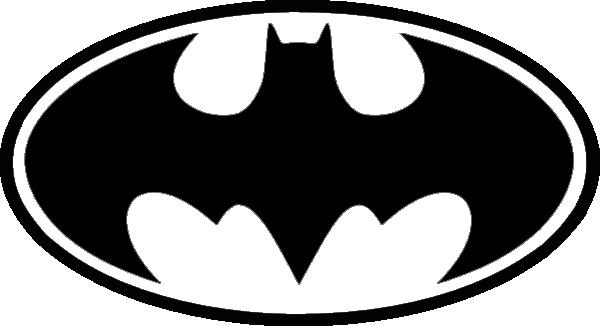 Batman logo clipart black and white
