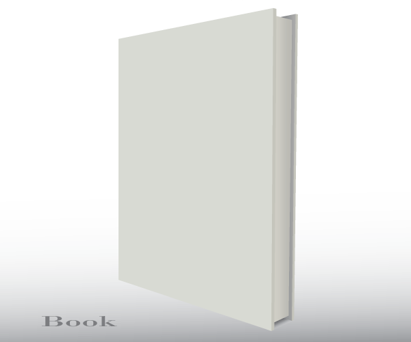 Free blank book template png clipart vector