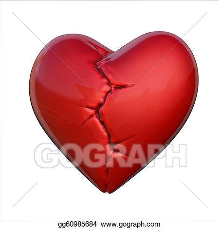 Stock Illustration - Broken heart. Clip Art gg60985684 - GoGraph image