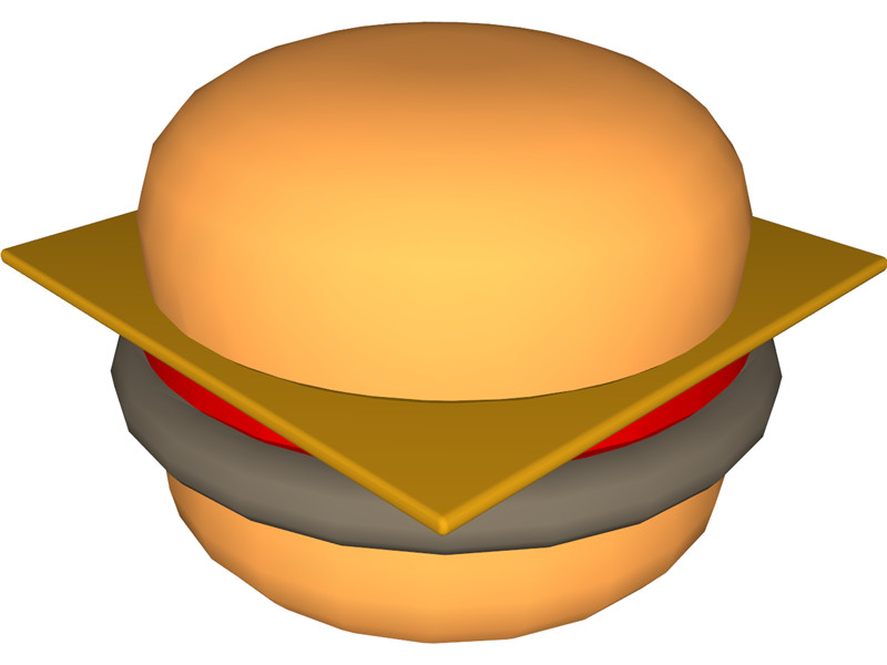 Cheeseburger 3D Model Download | 3D CAD Browser - Clip Art Library jpg royalty free library