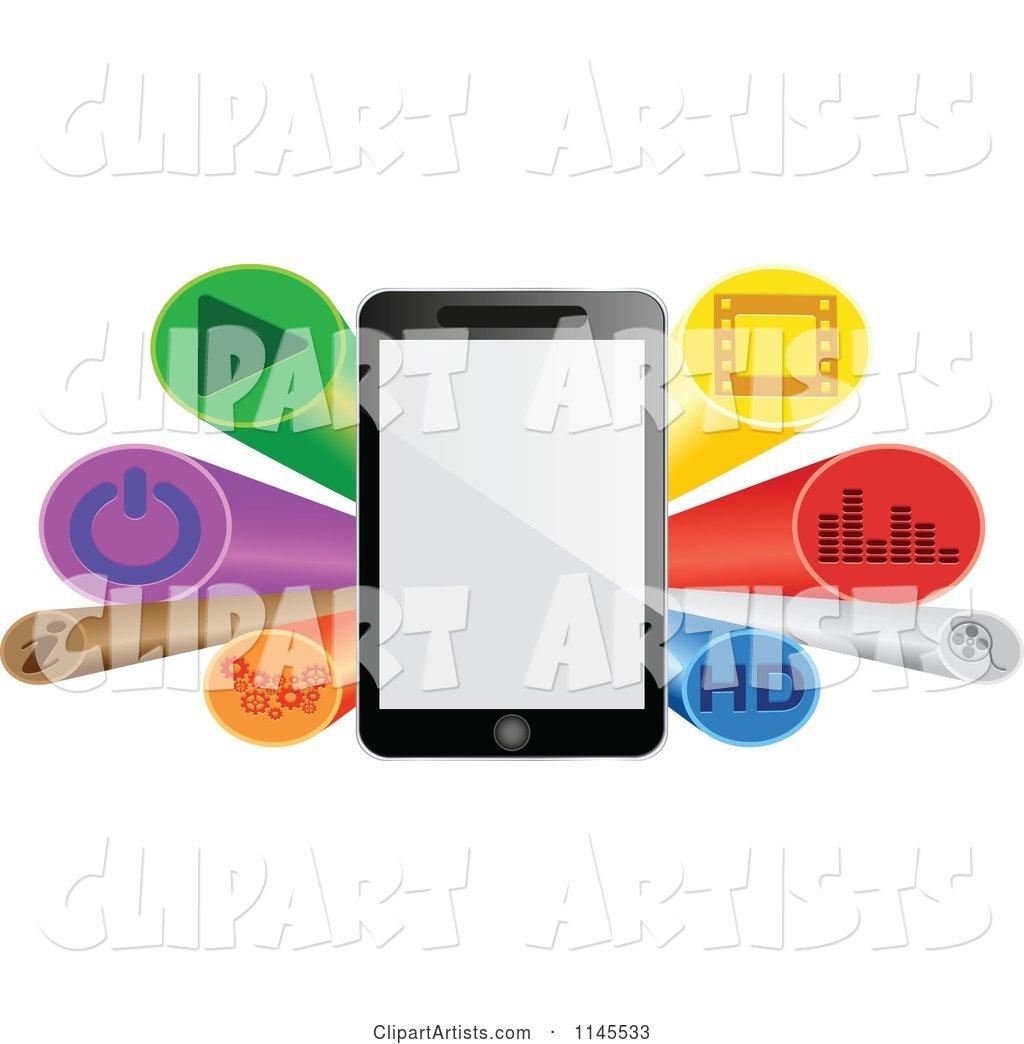 3d burst clipart svg transparent stock 3d Tablet and Button Burst Banner Clipart by Andrei Marincas svg transparent stock