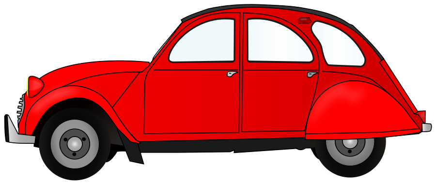 Car doors clipart vector freeuse download 2CV red car Clipart Large Size | 2CV | Pinterest vector freeuse download