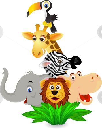 3d cartoon animals clipart picture black and white library Funny Cartoon Animal Pictures | Free download best Funny Cartoon ... picture black and white library