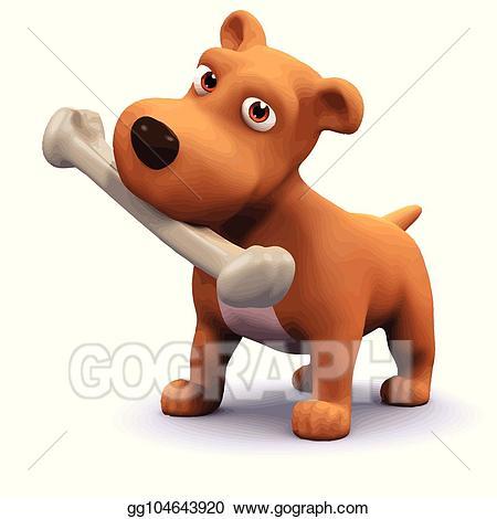 3d cartoon dog clipart clip art freeuse download EPS Illustration - 3d dog and bone. Vector Clipart gg104643920 - GoGraph clip art freeuse download