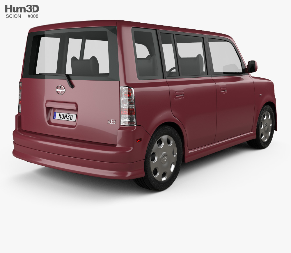 Scion xB 2003 3D model vector free library
