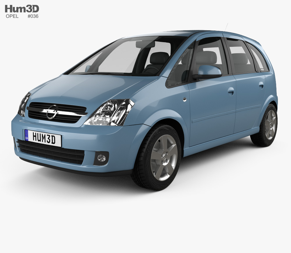 Opel Meriva (A) 2003 3D model png black and white library
