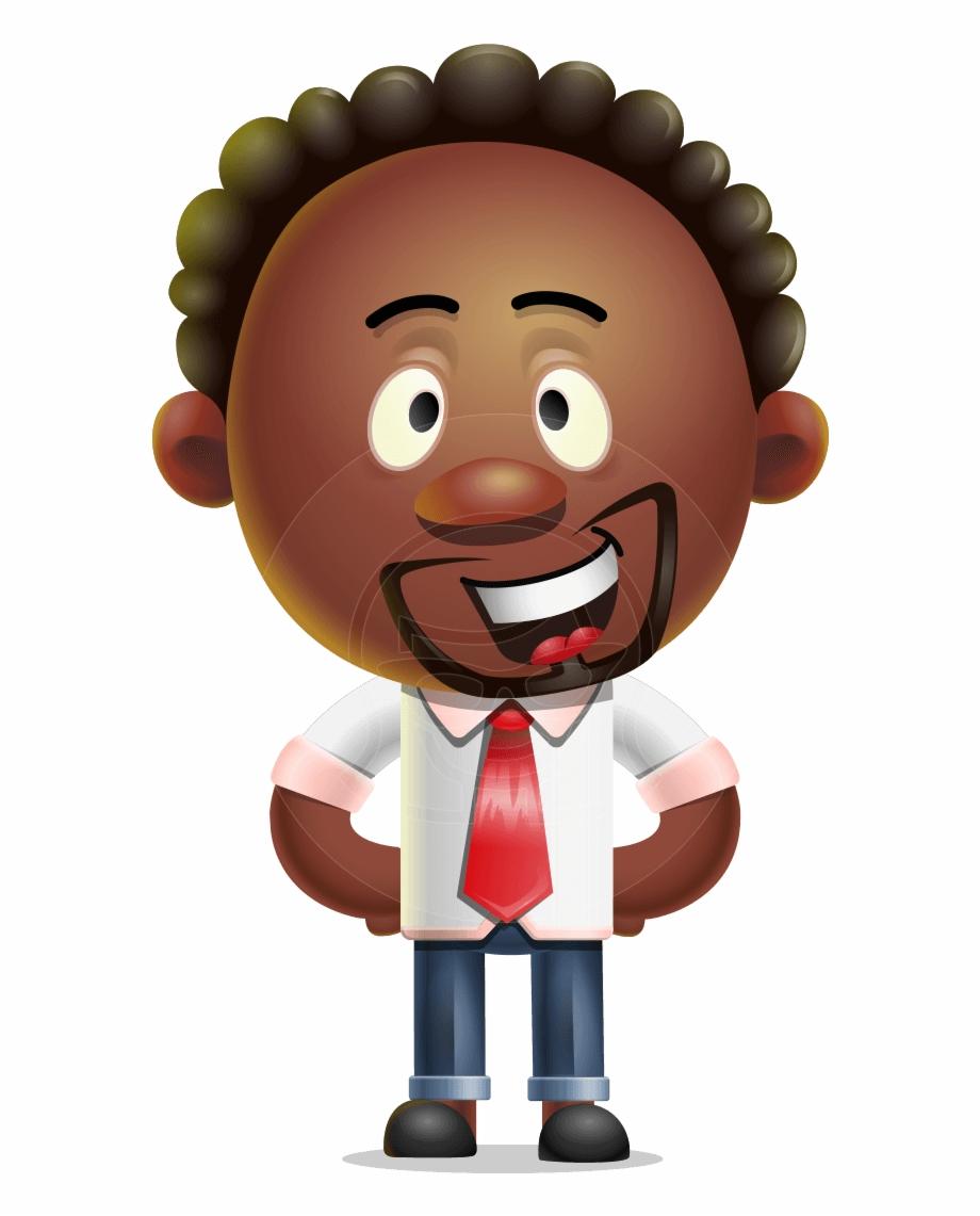 3d clipart characters transparent Cute African American Man Cartoon 3d Vector Character - Jeffrey ... transparent