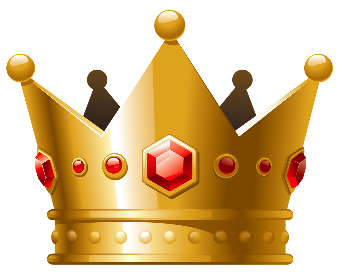 Crown clipart with green gem clip art library Gold Crown with Red Diamonds PNG Clipart | Princess Printables ... clip art library
